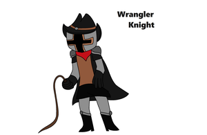 Wrangler Knight (Shovel Knight OC) by Villainous-Sp00k