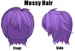 Messy Hair DL by Lady-Zana