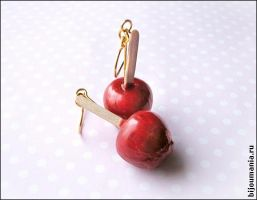 Earrings Candied apples1 by allim-lip
