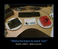 Welcome back to work Tom by Sekrain