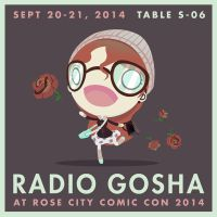 Radio Gosha at Rose City Comic Con 2014 by GoshaDole