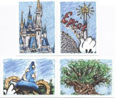 Disney World Sketch Cards by tdastick