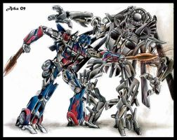 Battle for the Allspark by Arka-n-Rakem