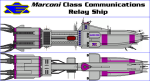 Marconi Class Communications Relay Ship by MarcusStarkiller