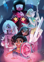 We Are the Crystal Gems (and Connie) by RavenNoodle