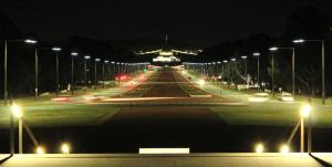 Canberra At Night - Anzac Parade by ArtByTash