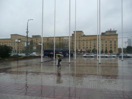 It rains in Moscow by Rikitza