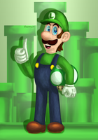 Mandatory Luigi Fan Art by Goomuin
