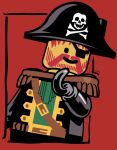 Lego Pirate Print by Uncleshifty