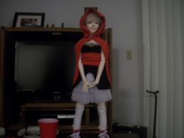 Red ridding hood bjd costume by oXtatsukoXo