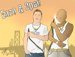 Enzo and 2pac by AbdeLo