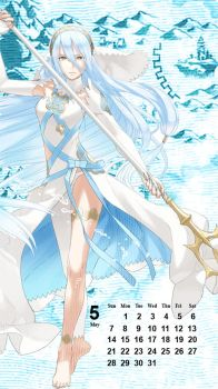 Fire Emblem Phone Background - Azura (Birthright) by MonicaJohnson0647