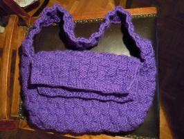 Knitted bag WIP by Thyme-Sprite