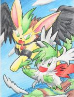 Request: Lee and Shaymin by PachirisuLuva