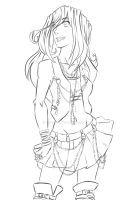 Florencia Chick Lineart by hielorei