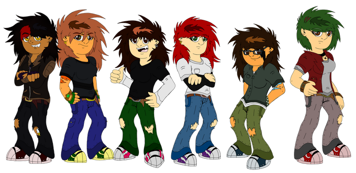 Elemental Girls' New Look Update by LizzietheRatcicle