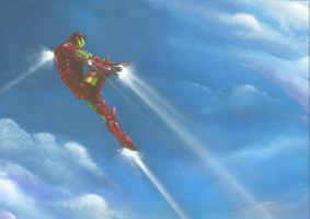 flying ironman by LucaStrati