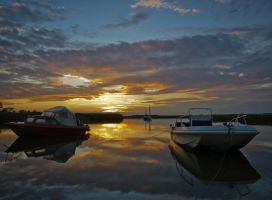 Sunset reflected by grbush