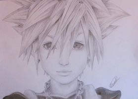 Sora - Kingdom Hearts by monathomsen