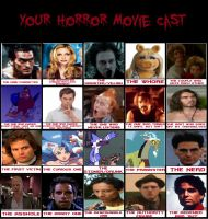 My Horror Cast by monstermaster13