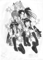 negima characters by megakitty