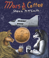 Mars And Coffee Book Cover by MadraSionnach