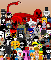 Creepypasta Group Photo 2 by DanielTheStudent