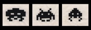 Space invaders group by Oddball-X-stitch