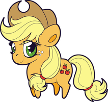 Chibi Applejack by Squeemishness