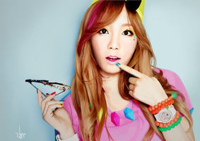 Tae Yeon - SNSD - Digital Paint by U8i