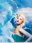 Dianna Agron as Queen Elsa by ChantiiGG