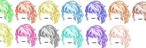 190+ watchers Hair Giveaway Ver.2! by LuciferJ
