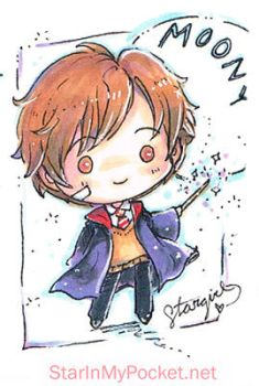 Remus Lupin Chibi Commission by StarMasayume