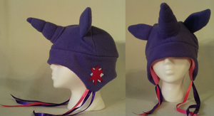 Twilight Sparkle fleece hat by lolkaysea