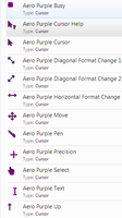 Aero Purple Cursor Pack by JordiArt