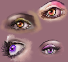Eyes practice by limonkaie