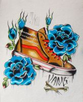 Vans Paint by thenerdtattoo