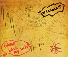 Dumbledore's Flying Kick by Anante