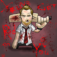 shaun of the dead: you've got red on you by who-fan96