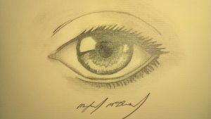 realistic eye drawing by INS0M