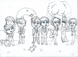 Redraw of my Ouran High fanpic WIP by groncaloncia
