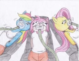 Rainbown dash, Amy and Flottershy by Reimon-Master-II