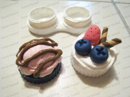 Deco Choco Contact Lens Case by me0w-kittyy