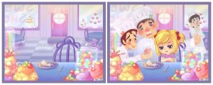 Sweetie Shop - With and Without Characters by lovenotestudios
