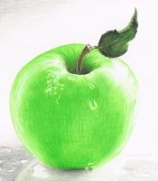 Apple Closeup by iMAGGInary