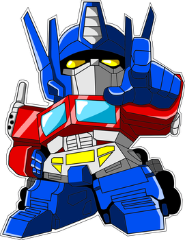 Optimus prime chibi by KayraItzayana