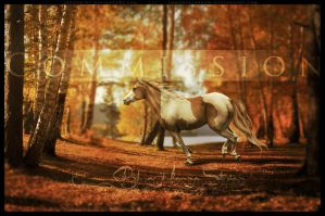 COMMISSION Turning Leaves by BlueHorseStudios