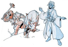 4e characters by Pachycrocuta