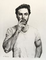 Aidan Turner from a Photo by Dean O'Gorman by shuckaby