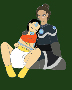 GB: Aang and Katara by Pokingaround